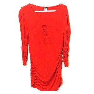 Red Long-sleeve Blouse Size XL